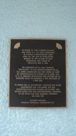 Dachau Concentration Camp Memorial Site: Plaque