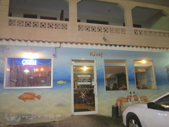 King Seafood: Front of the restaurant