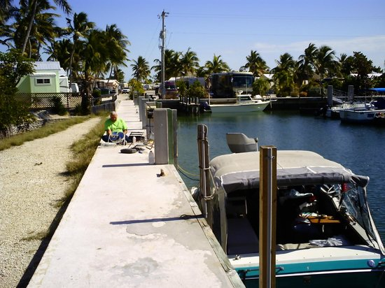 Sunshine Key RV Resort & Marina: our dock our boat