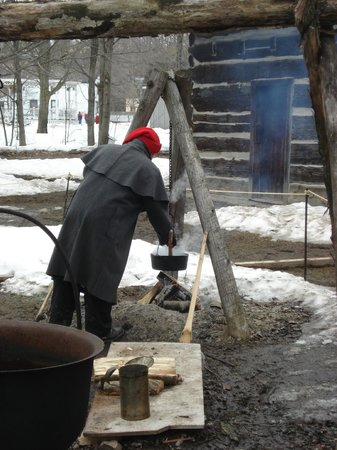 Westfield Heritage Village : Cooking outdoors