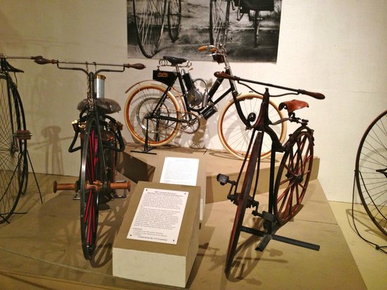Owls Head Transportation Museum: amazing variety of bicycles