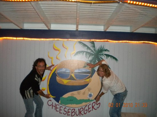 Cheeseburgers in Paradise: Always our FIRST stop when coming back to STX.