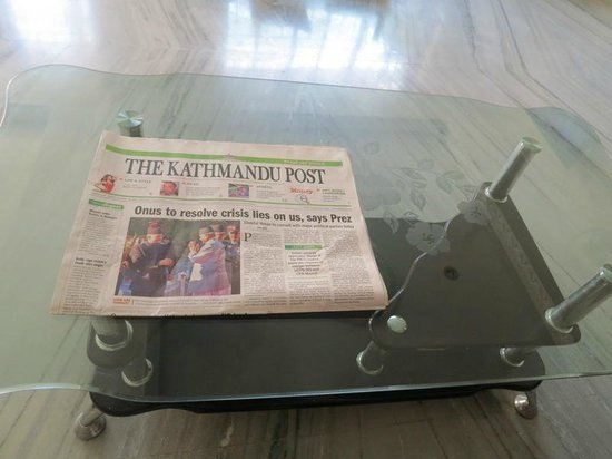 Hotel Family Home: English newspaper everyday in the lobby