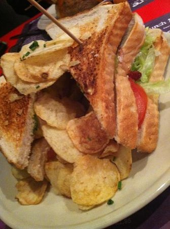 Loteria: chicken & bacon sandwich from the lunch menu
