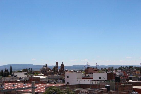 Hotel Conquistadores: Terraza para disfrutar de la hermosa vista de Guadalupe