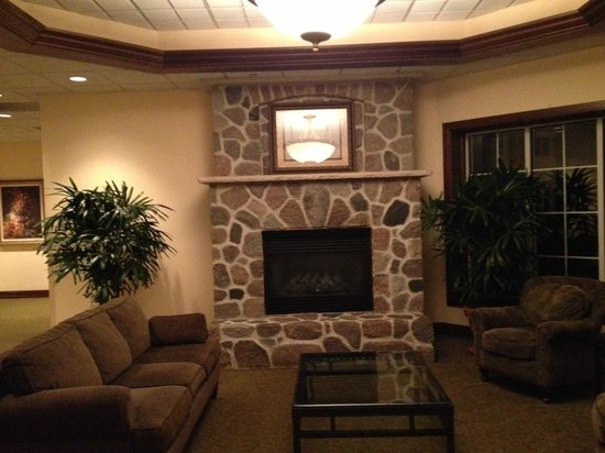 The Osthoff Resort: Fireplace near the Conference rooms