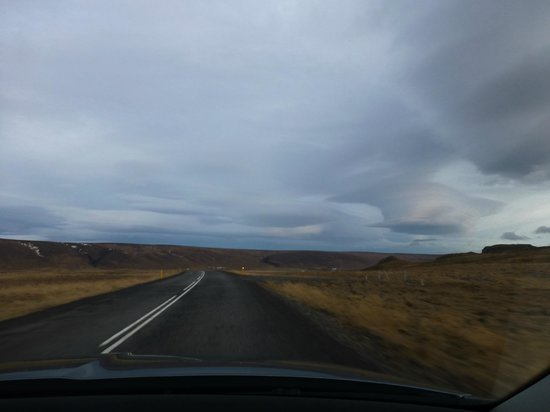 Hotel Glymur: The roads in Iceland