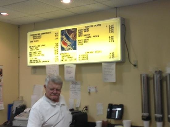 "Roland's Barbeque: ""Roland"" mans the register"