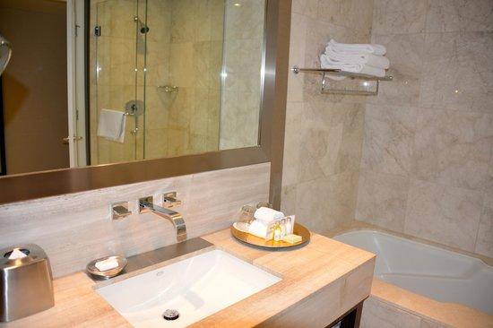 L'Hermitage Hotel : bathroom sink - all modern