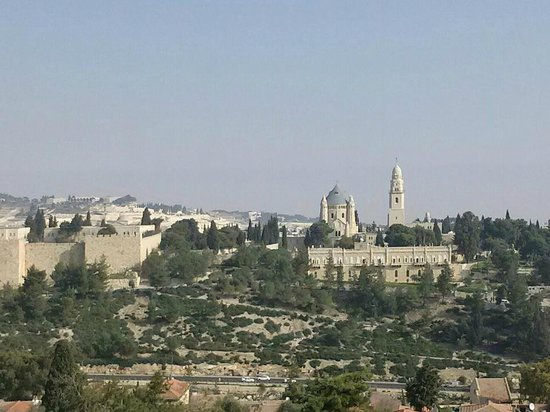 view of king david from old city of jerusalem picture of. Black Bedroom Furniture Sets. Home Design Ideas