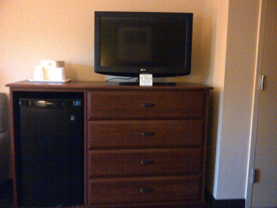 Quality Inn Flamingo: TV, fridge & dresser