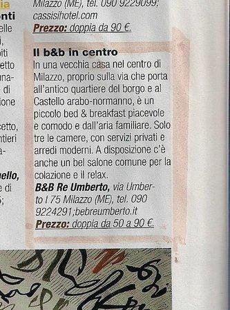 B&B Re Umberto: recenzione rivista
