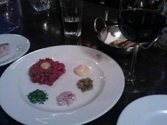 Neve Zedek - A place for meat: Beef Tartare--I highly recommend