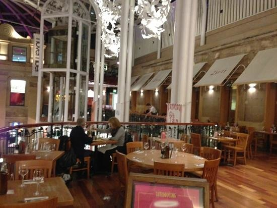 Inside seating area picture of zizzi glasgow princes for 16 royal terrace glasgow