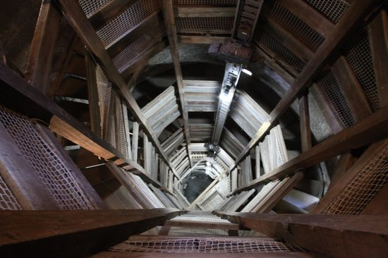 Shot Tower: stairs up and down