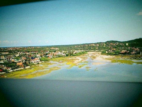 Marriott's Aruba Surf Club: søområde på bagsiden af hotellet