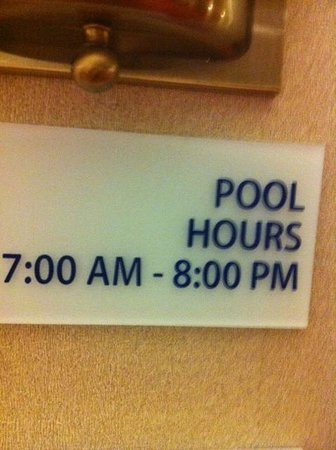Holiday Inn Express & Suites Bradley Airport: Pool closest too early