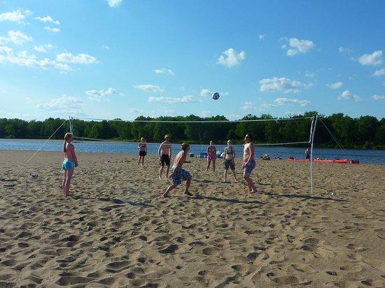 Wisconsin Canoe Company: Volleyball on a sandbar