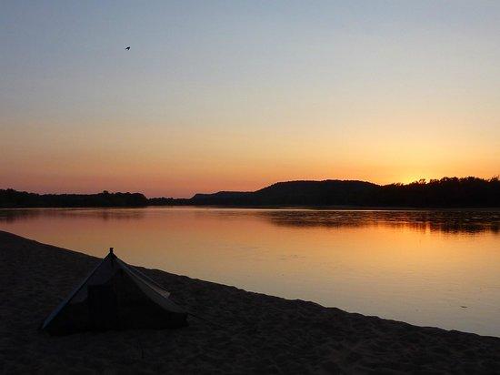 Wisconsin Canoe Company: Wisconsin River at sunset