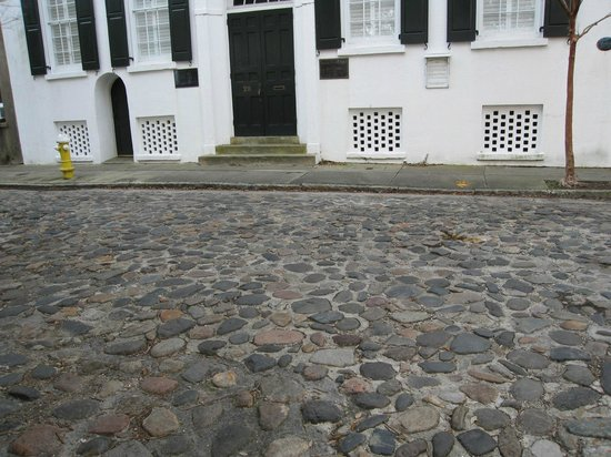 Charleston Footprints Walking Tours: Cobblestone street