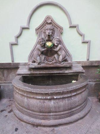 Hotel Puebla de Antano: Fuentes del Hotel en la entrada