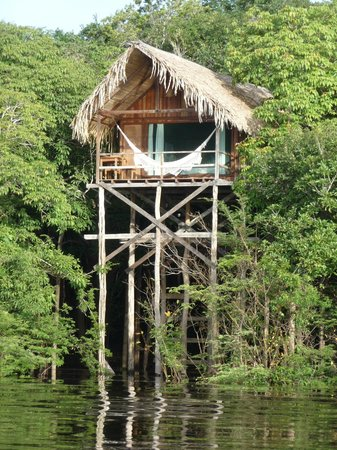 Juma Amazon Lodge: A lake view bungalow.