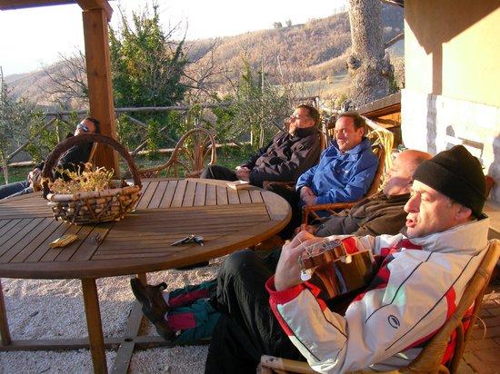 Selvicolle Country House: Un angolo ben esposto al sole anche d'inverno