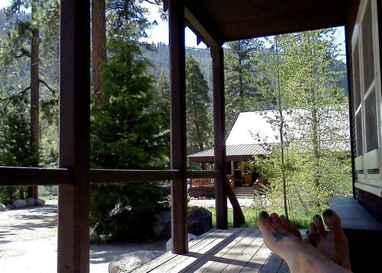 Kennedy Meadows Resort & Pack Station: front porch of saloon