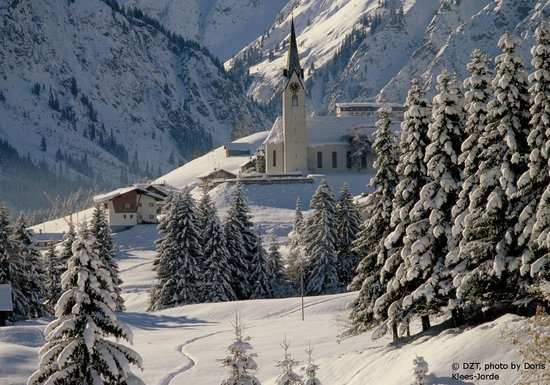 Germany: Hirschegg in the Kleinen Walsertal valley