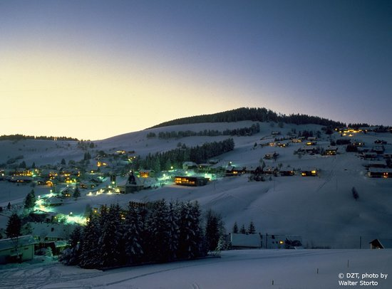 Almanya: Black Forest: Todtnauberg in wintertime