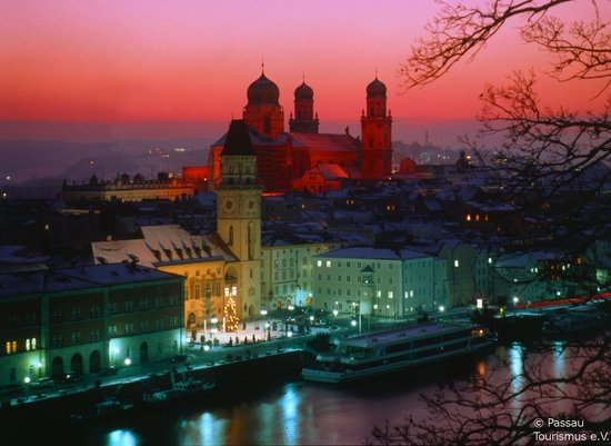 Alemania: Passau: A winter's evening