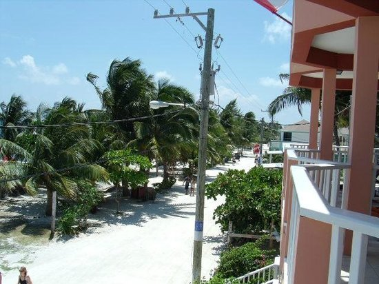 Caye Caulker Condos: Balcony - second floor view