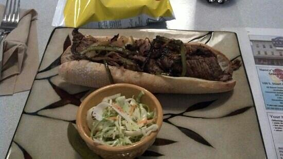 Appalachian Baking Company: Awesome steak and cheese with slaw and chips!