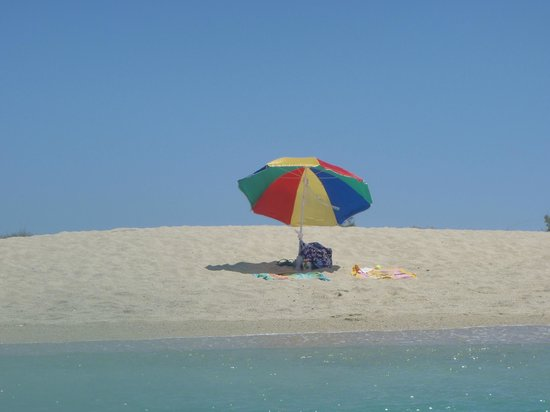 Agios Prokopios Beach: Our own little deserted island....