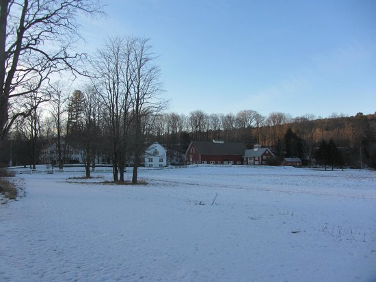 Quechee Inn At Marshland Farm: a bit of snow but not enough right now for x-country skiing