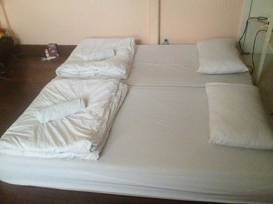 Comfy beds at Khaosan Baan Thai