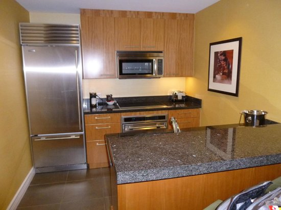 Trump International Hotel Las Vegas: Stainless steel kitchen.