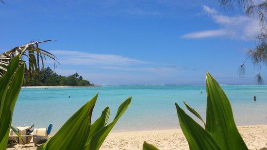 Muri Beach Club Hotel: View from room 206 sun lounger area