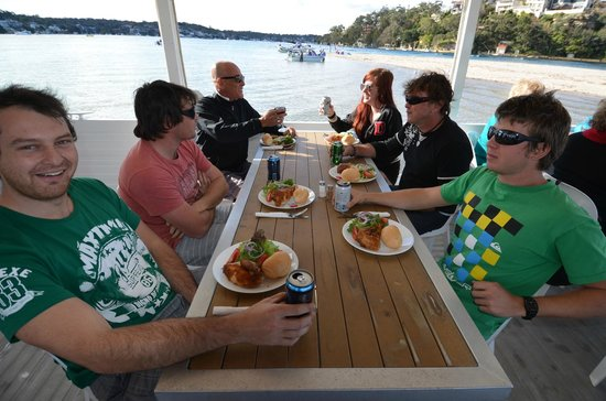 Cronulla & National Park Ferry Cruises: Lunch time aboard the