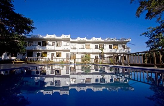 Hotel Fiesta: vista habitaciones atardecer