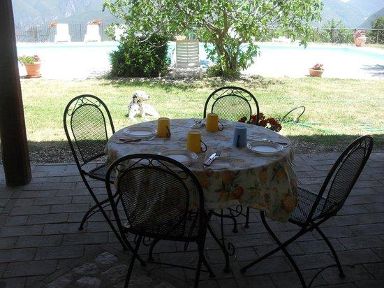 Agriturismo Santa Serena: Pranzo sotto il portico
