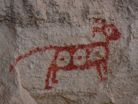 Geronimo Trail Guest Ranch: Mimbres cave painting