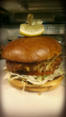 GrillSmith: Shrimp and Crab Burger