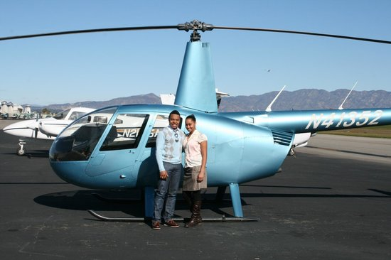 Elite Helicopter Tours: Me and my beau before our flight!