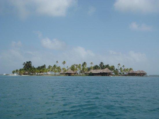 Yandup Island Lodge: View from la lancha