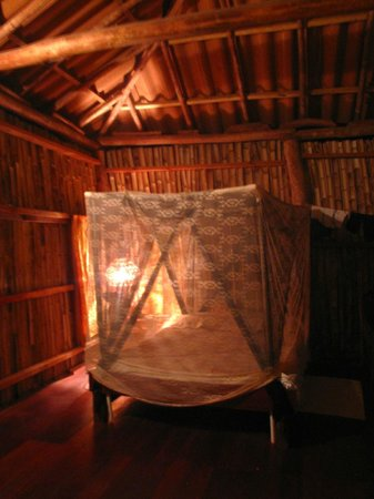 Empalme a Las Playas: inside the cabana. comfy beds and mosquito nets