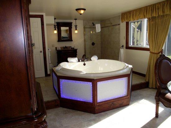 Auberge aux Nuits de Reve: Le bain à remous de la suite Bill et Monica