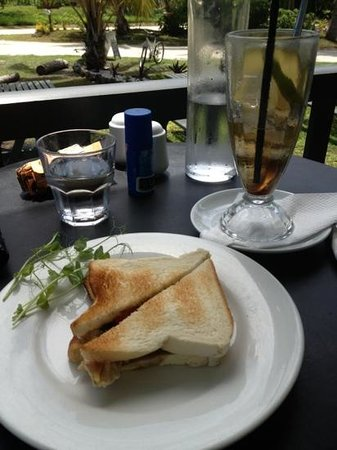 Koru Cafe: A toasted sambo and iced tea combo ! perfect for a hot day.