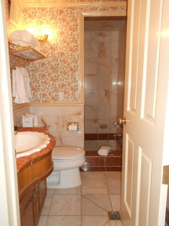 Doryman's Inn: Bathroom was 6-steps down from the main floor. Clean and semi-functioning.