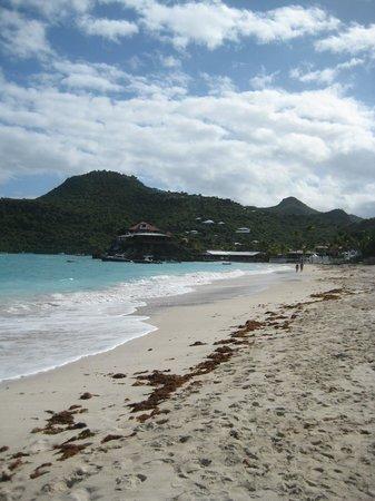St. Jean Beach: St Jean beach with Eden Rock Hotel